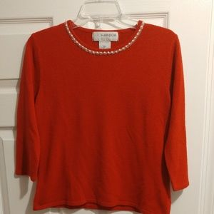 Sag Harbor Red Sweater Size PM